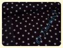 Sterne braun/weiß - Rest 100x150cm