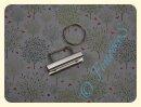 Schlüsselbandrohling 40mm mit Schlüsselring