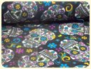 Fleece Folkloric Skulls - David Textiles USA