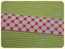 Schrägband Big Dots pink