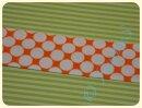 Schrägband Big Dots orange