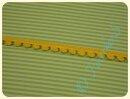 Bommelborte klein gelb