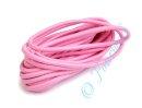 Gummikordel rosa rund 3 mm 3m Länge