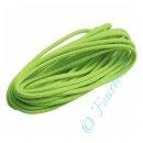 Gummikordel gelbgrün rund 3 mm 3m Länge