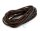 Gummikordel dunkelbraun rund 3 mm 3m Länge