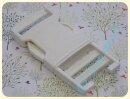 Steckschliesse weiß Doppelsteg 30mm Kunststoff