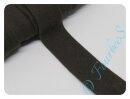 Jersey-Schrägband dunkelbraun