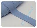 Jersey-Schrägband hellblau