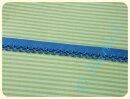 Schrägband mit Häkelborte jeansblau