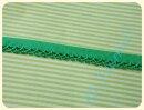 Schrägband mit Häkelborte grasgrün
