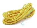 Gummikordel gelb rund 3 mm 3m Länge