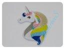 """Aufnäher """"Unicorn"""" pastell Kopf"""