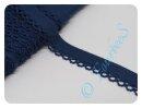 Schrägband mit Häkelborte dunkelblau