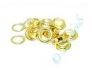 10 Ösen mit Scheiben 8mm gold