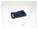 Steckschliesse dunkeblau 25mm Kunststoff