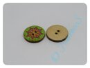 """Holzknopf """"Hippie 7"""" 20mm"""