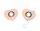 2 Ösen auf Kunstleder rosa Herz 8mm silber