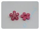 Knopf Blume pink 17mm
