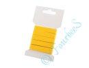 Köperband 10 mm 3m Länge gelb