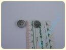 Knopf Hammerschlag silber 15mm Metall