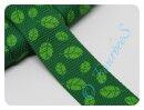 Gurtband 30mm Blätter grün