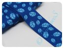 Gurtband 30mm Blätter blau