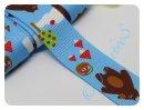 Gurtband 30mm Bär blau