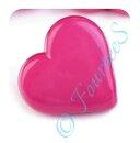 Knopf Herzchen pink
