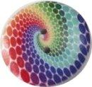 """Holzknopf  """"Rainbow"""" ca. 25mm"""