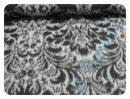 Wollstoff Ornamente grau/schwarz