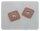 2 Ösen auf Kunstleder rosa 8mm silber