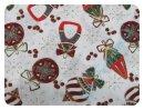 Weihnachtskugeln weiß - Webware