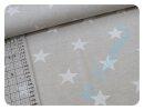 Sterne beige/weiß