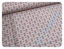 Blümchen grau/rosa - Webware