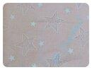 Stars lachs Spitze - Viskose - Rest 100x150cm