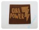 """Label/Aufnäher """"Girl Power"""" 4,5x4,5cm"""