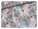 Flowers hellblau - Jersey
