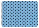 Feincord Punkte hellblau/dunkelblau