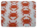 Crab Walk weiß/orange - Rest 135x110cm
