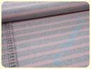 Glitzerstrick Streifen grau/rosa